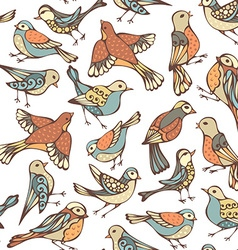 seamless pattern of various birds vector image