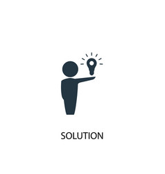 Solution icon simple element vector