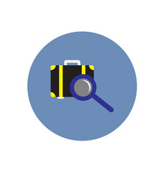 Stylish icon in color circle baggage scanner vector