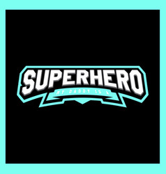 super hero power full typography t-shirt graphics vector image
