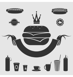 Symbol fast food set vector image