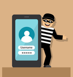 telephone fraud and fraud vector image