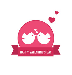 Valentine s day and wedding card with cute couple vector