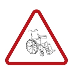 Wheelchair hand drawn vector