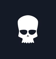 White biker skull vector