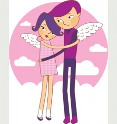 Wings love vector
