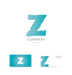 z blue letter alphabet logo icon design vector image