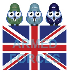ARMED FORCES UK vector image vector image