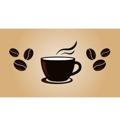 Coffee vintage banner template with beans vector image vector image