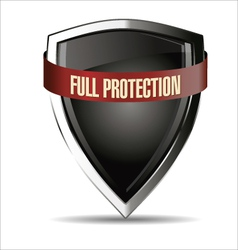 Full protection silver shield vector image