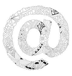zentangle stylized sign vector image