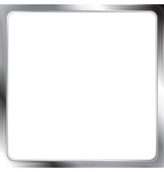 Abstract metallic silver frame vector image vector image