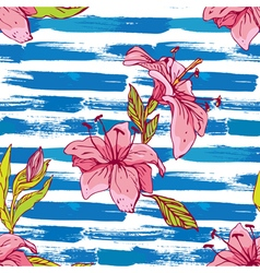 flower stripes seamless 380 vector image vector image
