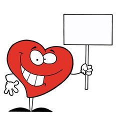 Heart Holding Sign vector image vector image