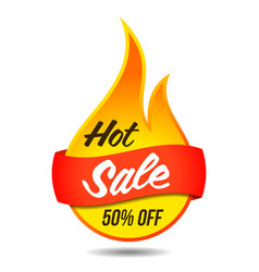 hot sale flaming label vector image