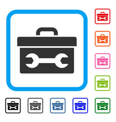 toolbox framed icon vector image