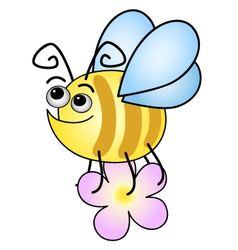 funny bee vector image