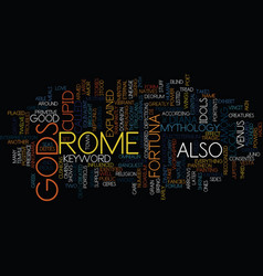 Gods of rome text background word cloud concept vector