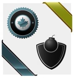 signs heraldic symbols logos vector image vector image