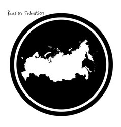 white map of russian federation on vector image vector image