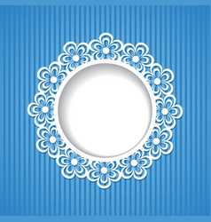 background with a floral frame vector image