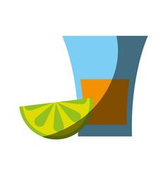 glass lemon flat shadow vector image vector image