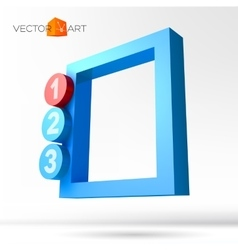 Infographic 3D frame with numbered options vector image vector image