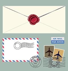Letter set vector image