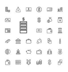33 bank icons vector