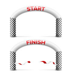 3d start finish line arch outdoor sport vector image