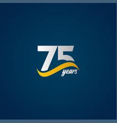 75 years anniversary celebration elegant white vector