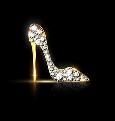 Abstract jewelry shoe vector