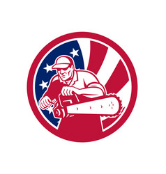 american lumberjack usa flag icon vector image