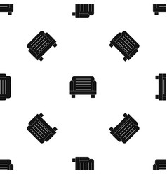 armchair pattern seamless black vector image