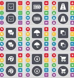 Arrow down charging road chat umbrella copy vector