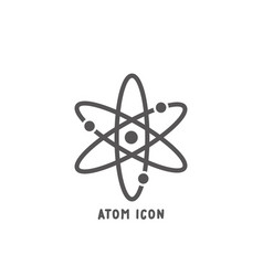 Atom icon simple flat style vector