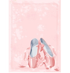 Ballet pointe shoes vector