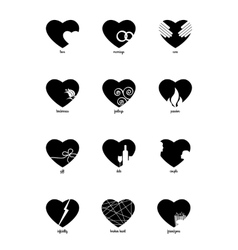 Black and white infographic for Valentines Day vector