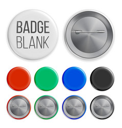 blank badges set realistic vector image