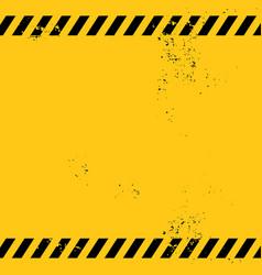blank warning banner vector image