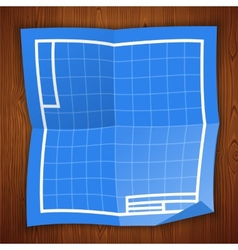 Blueprint Background on Wooden Surface vector