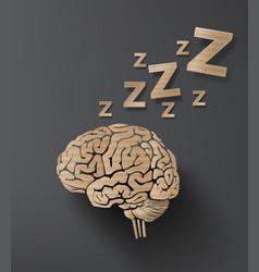 brain cardboard vector image