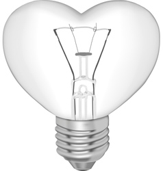 Bulb in the form of heart vector image