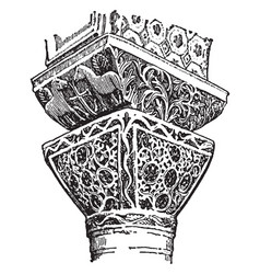 Byzantine capitals is from the church of st vector