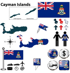 Cayman Islands map vector