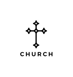 church logo icon vector image