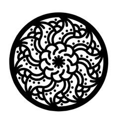 circle floral ornaments 3 vector image