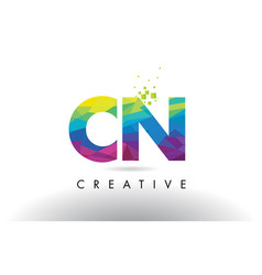 Cn c n colorful letter origami triangles design vector