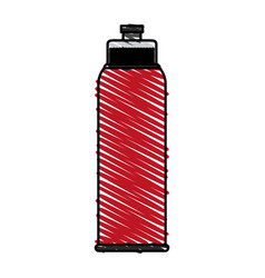 Color crayon stripe image sports bottle for vector