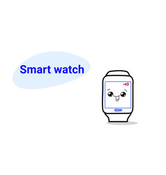 cute smart watch cartoon comic character with vector image
